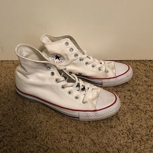 High Top White Converse Women's 8.5